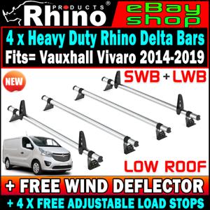 Swb Lwb Low Roof 4 X Rhino Van Rack Bars Vauxhall Vivaro
