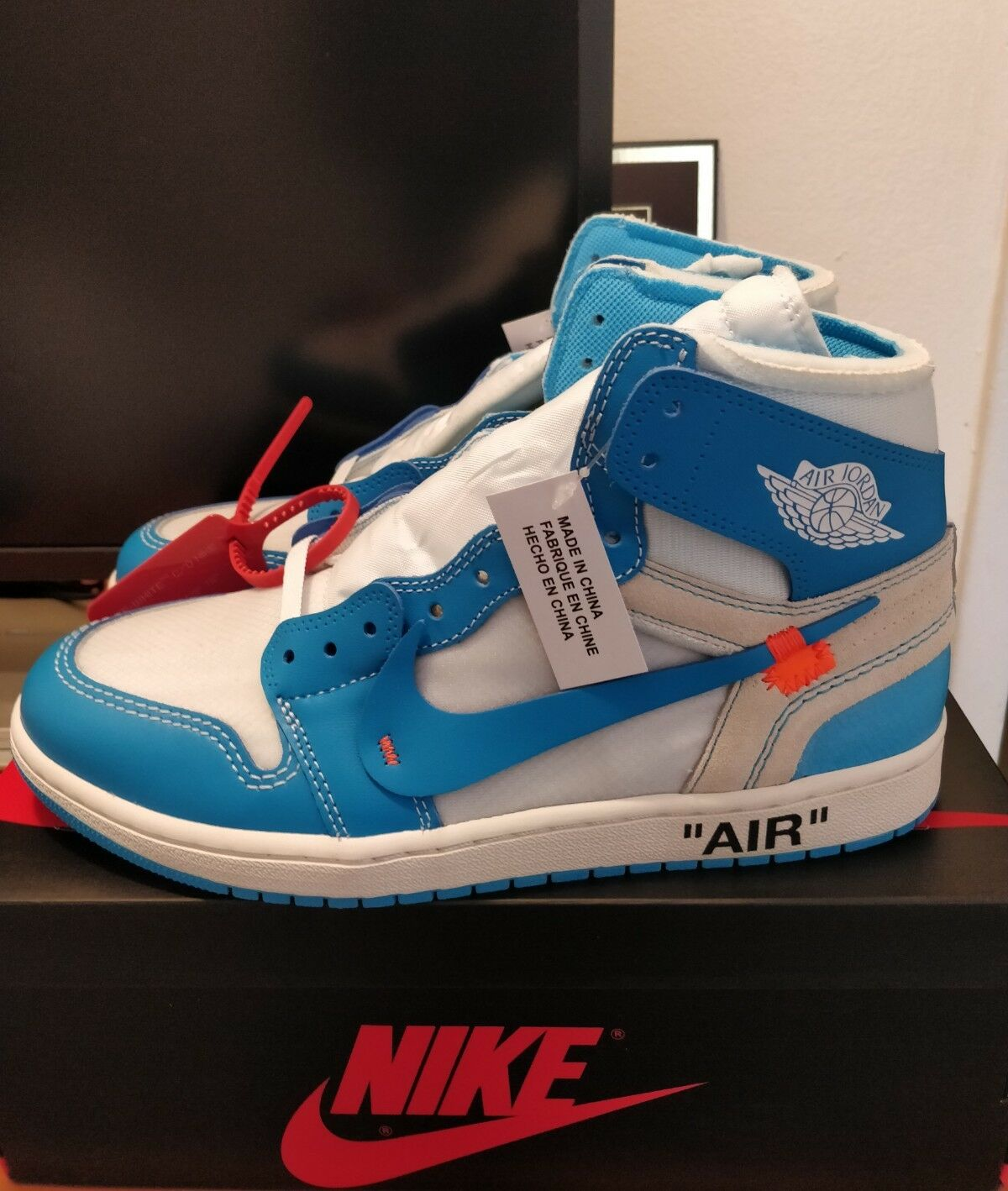 Off-White Air Jordan 1 Retro High OG UNC Sz 9 AQ0818-148 Off white Virgil Abloh