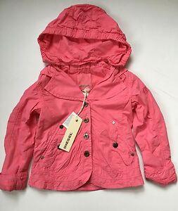 82225d5bd NWT DIESEL Girls Pink Spring Detachable Hooded Jacket Coat 2 2T 4 4T ...