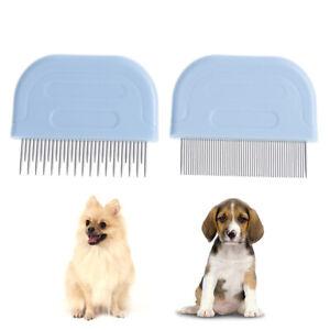 Hair-Comb-Hair-Brush-Shedding-Flea-For-CatDog-Trimmer-Grooming-Pet-Metal-TeethFB