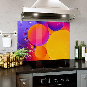 Cuisine Verre Splashback Impression panneaux résistant à la Chaleur Verre Trempé 90x65cm