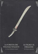 3 Dvd Box Cofanetto «LA FORESTA DEI PUGNALI VOLANTI + LA TIGRE E IL DRAGONE»