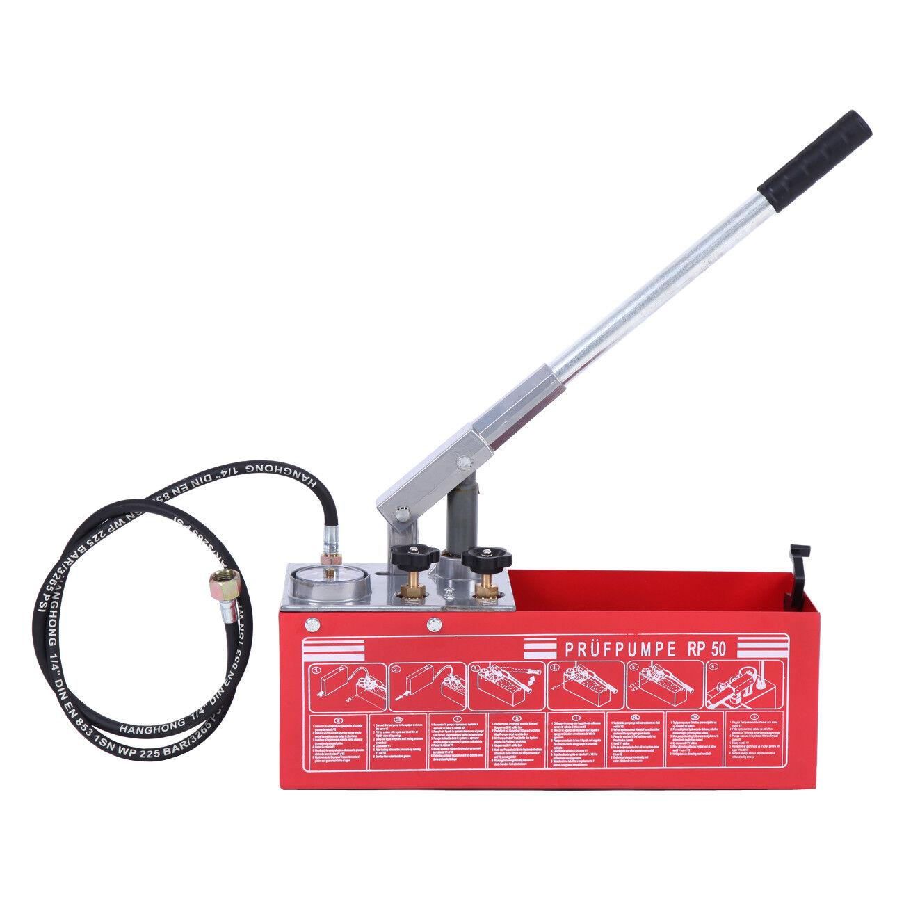 Essai de pression de fuite de la conduite d'eau de la pompe 12L Pressure tester