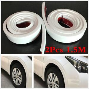 2X3-8cm-1-5-Car-Fender-Flare-Extension-Wheel-Eyebrow-Moulding-Trim-Protector-Lip