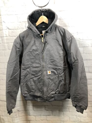 Carhartt J140 Mens Large Gravel Gray Quilted Lined