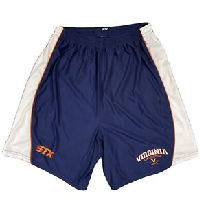 STX UVA Virginia Cavaliers Lacrosse Shorts Men's Large Navy White Embroidered