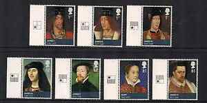 2010 GB QEII THE AGE OF THE STEWARTS COMMEMORATIVE GUTTER STAMPS SG 3046 - 3052