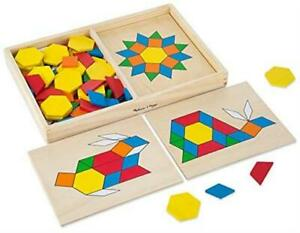 Melissa-Doug-Pattern-Blocks-and-Boards-Classic-Toy-Developmental-Toy-Wooden-Shap