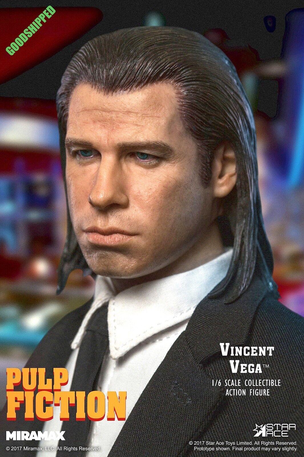 Estrella de listo Ace TOYS 1994 Pulp Fiction Vincent Vega culto John Travolta SA0041 1 6