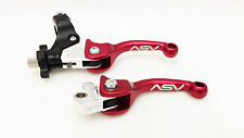 ASV F3 Unbreakable Adjustable Shorty Red Brake Clutch Levers Pair Pack DRZ 400