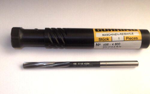 GUHRING HSS-E Machine Serrage Alésoir 4.8 mm 4.80 mm 0.004 DIN 212 r-n #496