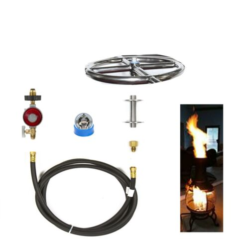 """FR6CK Basic Propan DIY Gas Feuerstelle Set 6 /"""" Lifetime Garantiert 316 Brenner"""