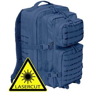 Rucksack-Brandit-8024-40l-US-Cooper-LASERCUT-MOLLE-Assault-Army-Wandern-Navy