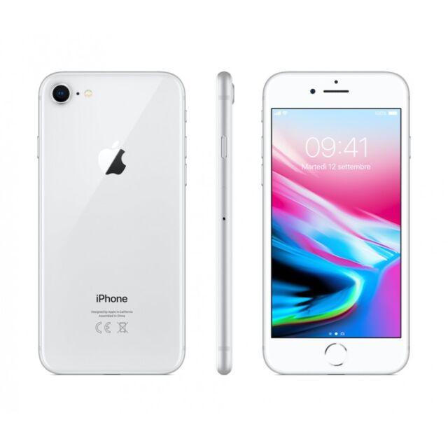 APPLE IPHONE 8 64GB SILVER ITALIA NUOVO ORIGINALE GAR 24 MESI 64 GB