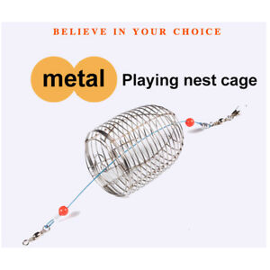 5Pcs-Stainless-Steel-Wire-Fishing-Lure-Cage-Small-Bait-Basket-Feeder-Holder-Trap