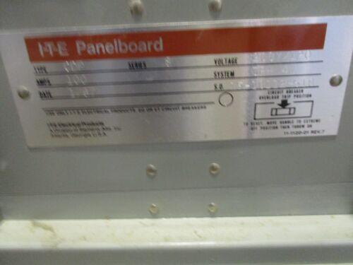 E2069 ITE CDP8 100 AMP MAIN LUG 120//208 VOLT 24 CIRCUIT PANELBOARD