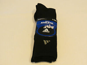 Adidas Hommes Athlétique 3 Pair Chaussettes Chaussure Size 6-12 Taille 10-13