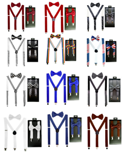 Quality-SUSPENDERS-and-BOW-TIE-MATCHING-BOXED-GIFT-SET-Tuxedo-Wedding-Party-USA