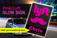 Personalized Lyft Light Sign, Professional-Grade USB-Powered Glowing Driver