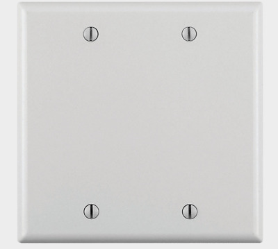 LEVITON IVORY Plastic Blank 2 Gang WALL PLATE COVER 4-1//2 in H 86025-000 New!