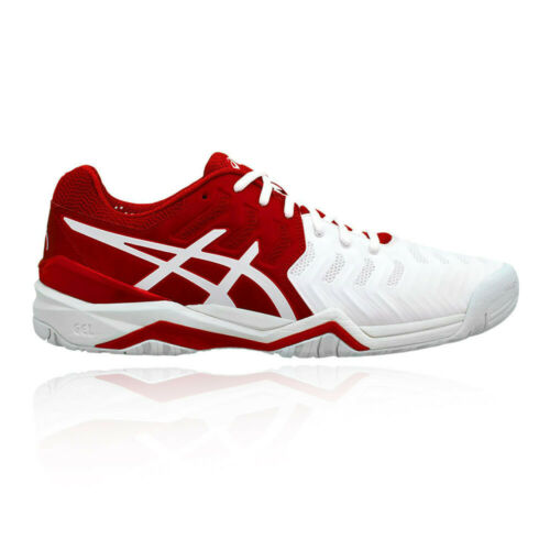 Asics Mens Gel-Resolution Novak Tennis Shoes Red White Sports Breathable