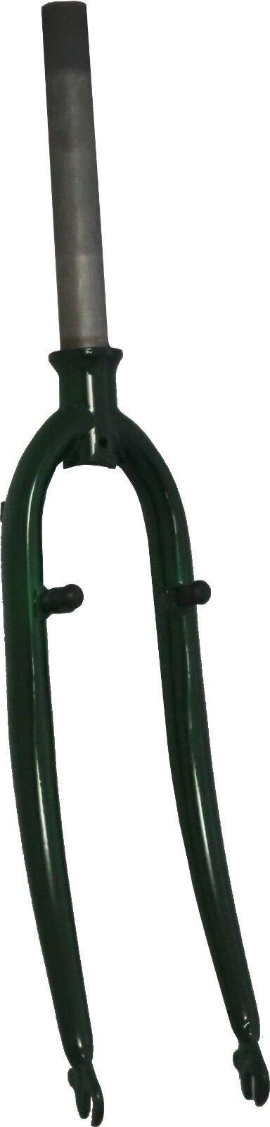 28 pouces fourche en acier green métallique avec schraubkrone   unicrown 1 1 8
