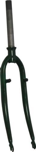 Gabeln Fahrradteile & -komponenten 28 Zoll Stahlgabel grün metallic mit Schraubkrone /Unicrown 1 1/8