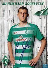 Maximilian Eggestein (35) + Werder Bremen + Saison 2016/2017 + Autogrammkarte