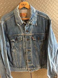 31230-Vintage-Mens-LEVIS-Denim-Trucker-Western-JACKET-COAT-Size-46