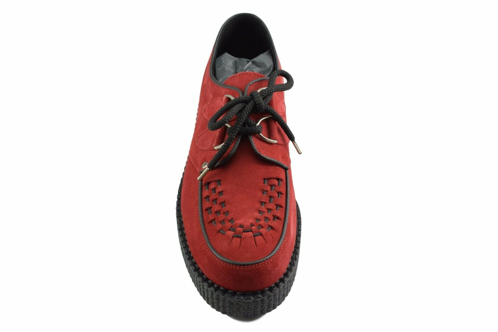 Steel Ground Schuhes ROT Suede Creepers Niedrig Niedrig Niedrig Sole D Ring Casual Sc400Z5 e46a96