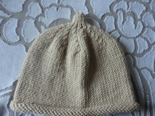 Luxury Hand Knitted Cashmere Merino Wool Silk Beanie Hat 1-3 Years