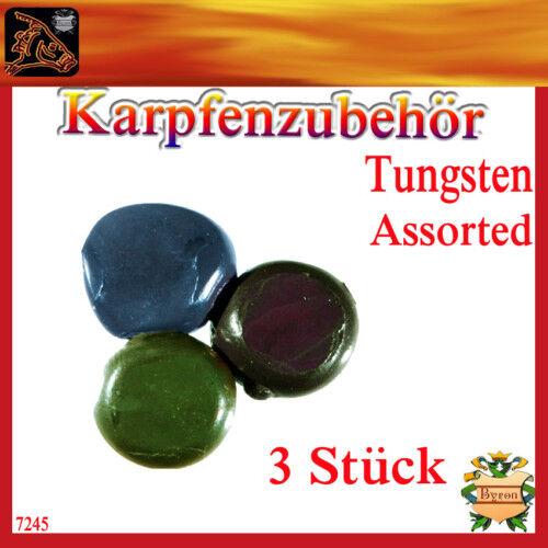 Karpfen-Angeln-ZubehörTungsten Assorted knetbar 3 Stück 7245