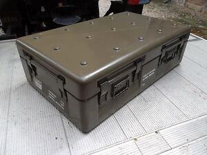 Sehr BW Bundeswehr Gfk Box Kiste wasserdicht Transportbox 1000x600x300  KS82