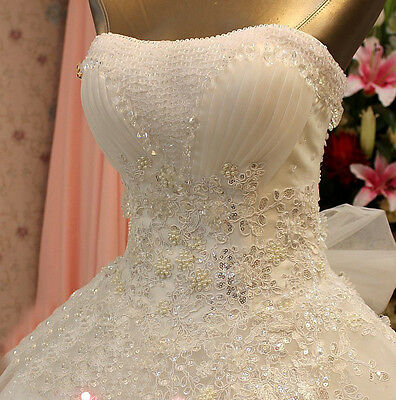 A-line strapless sweetheart organza with beading and lace netted skirting
