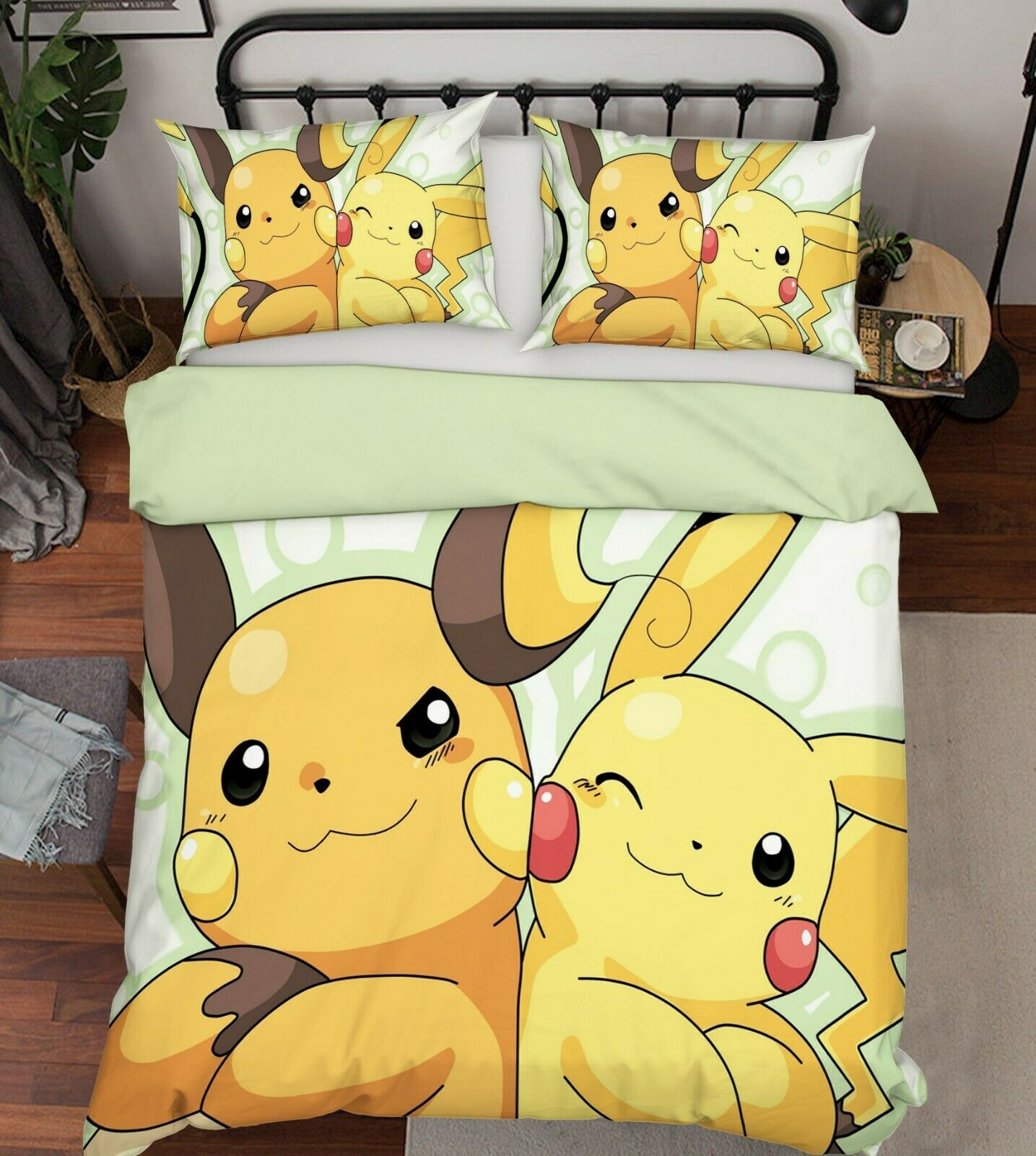 3D Pokemon 916 Japan Anime Bed Pillowcases Quilt Duvet Cover Single AU