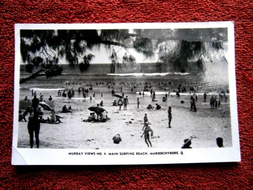MURRAY VIEWS No. 4 MAIN SURFING BEACH MAROOCHDORE QLD POSTCARD 131