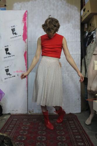 Shirt Rot Vintage Ärmellos Nylon 60er Rolli True Silky Damenoberteil Unterpulli 75qR6wPg