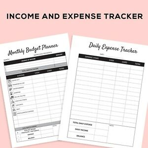 image regarding Printable Expense Tracker named Facts more than Printable Regular monthly Weekly Spending plan Planner Value Tracker for Electronic Down load