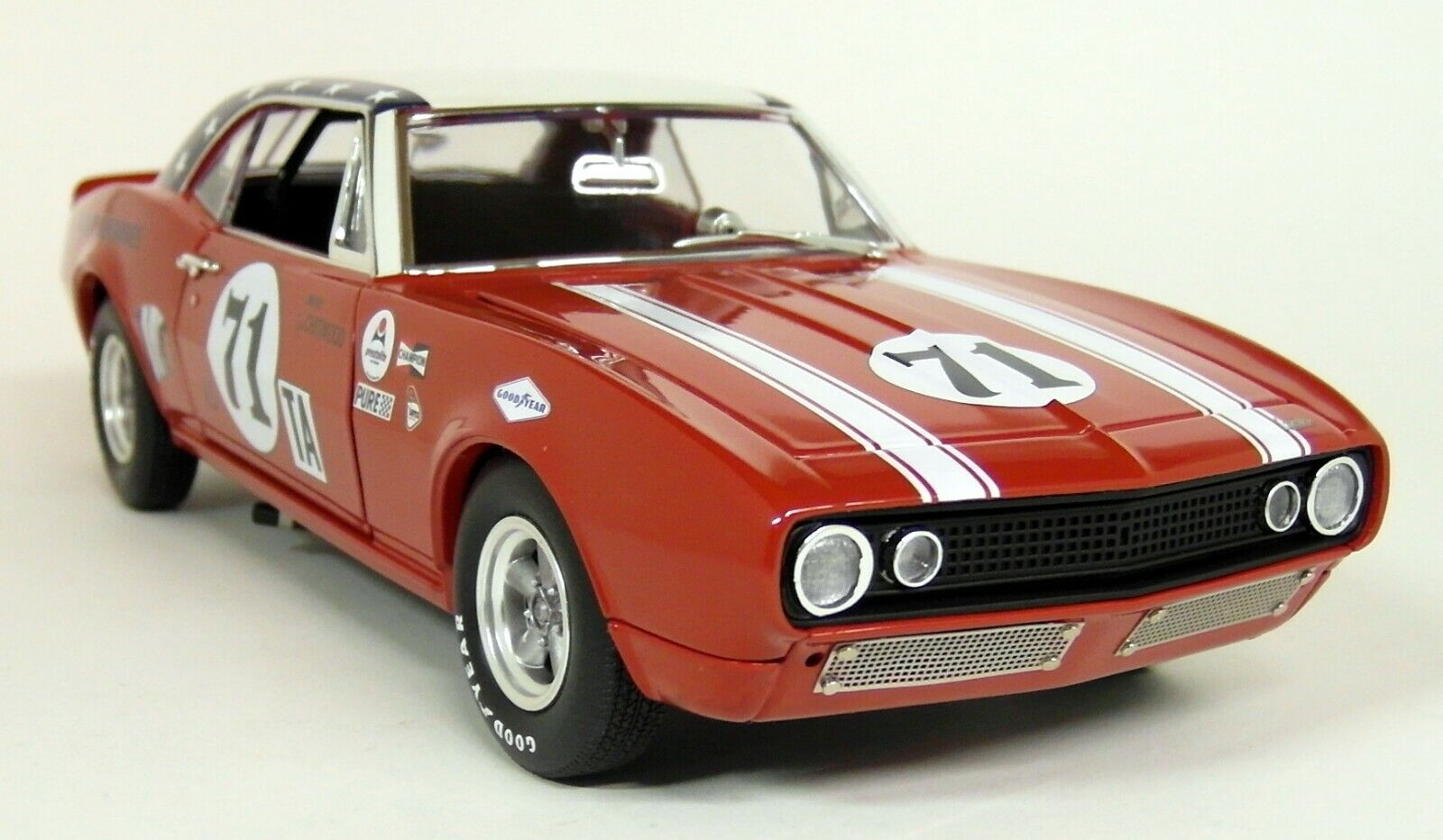 Acme 1 18 Scale 1967 Chevrolet Camaro 1968 Daytona 24H Red diecast Model Car