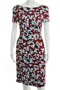 Mary-Katrantzou-Multi-Color-Abstract-Short-Sleeve-Dress-Size-4-New-2180-120125