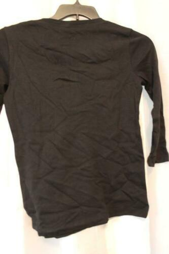 NWT Karen Scott Split Neck 3//4 Sleeve Deep Black Top Sz XSmall and Med