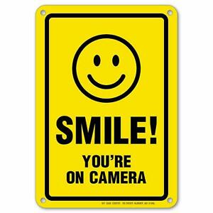 Smile-You-039-re-on-Camera-Sign-Area-Under-Video-Surveillance-Sign-7-034-x-10-034