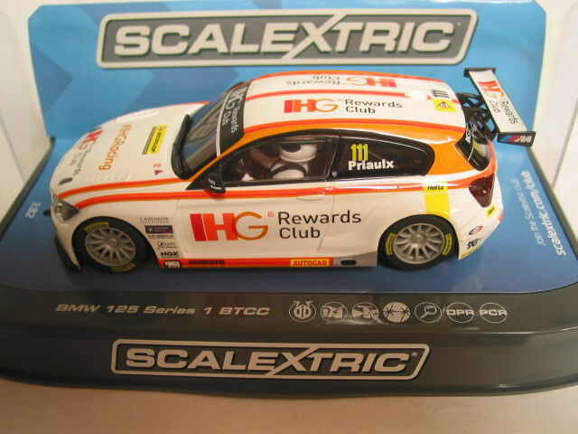SCALEXTRIC C3784 BMW 125 SERIES 1 BTCC 205 IHG NO 111 ANDY PRIAULX  BNIB