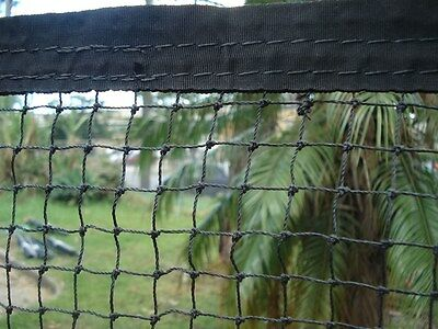 Cat Enclosure Netting  15m x 3m with REINFORCED EDGING