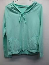 NWOT Fresh Produce mint green pullover hooded sweat shirt w/ pockets size L