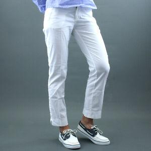 P016 Bianco Cotone Di Mod Pantalone Mare Armata wvWZpnBqXx