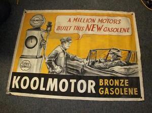 Cities-Service-Gas-cloth-sign-clock-face-gas-pump-globe-sign-n-porcelain