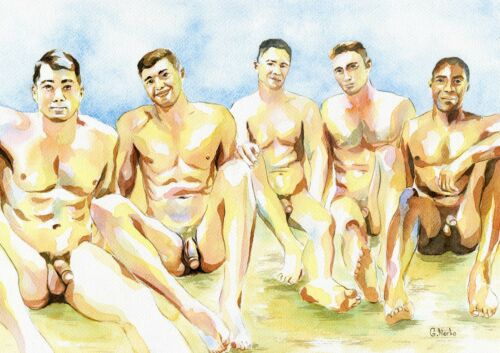 Boy nude beach Category:Black and