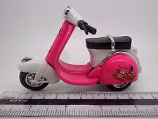 Pink  & White Plastic & Metal Scooter Dolls House Miniature Garden Accessory
