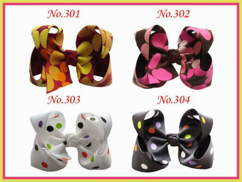 50 Good Girl Costume Boutique 5.5 Inch ABC Hair Bows clip 474 No.